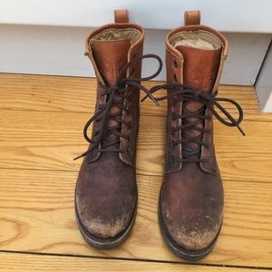 Frye Veronica Combat Lace Up Boot Women size 6.5US